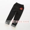 กางเกงเด็กปักหมีบราวน์ที่กระเป๋าหลัง สีดำ [size 3y-4y-5y]
