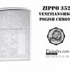 """ไฟแช็ค Zippo แท้ """" Zippo 352, Venetian® Design High Polish Chrome """" แท้นำเข้า 100%"""