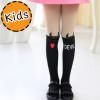 [ไซส์เด็ก] K6896 ถุงน่องเด็ก แบบสีดำครึ่งขา ลายเดวิลน้อย Little Devil