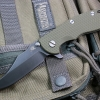 "RHK XM18 3.5"" Bowie Battle Black Blade OD Green G-10"