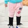กางเกงขายาวลาย 67 สีชมพูดำ [size: 3y-4y]