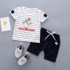 ชุดเซตเสื้อลายหนู+กางเกงสีกรมท่า [size 6m-1y-2y-3y]