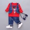 ชุดเซตเสื้อกั๊กแขนยาวลายเด็กผู้ชายสีแดง แพ็ค 4 ชุด [size 1y-2y-3y-4y]