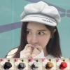 [พร้อมส่ง] H7699 หมวกผ้าวูล มีปีกด้านหน้า ทรงฟักทอง