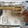 ปืนแก๊ปลูกโม่ยาว เด็กเล่น Cap Gun Super Gun สีทอง โม่ 8 นัด แถมลูกแก๊ป