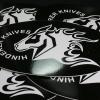 HINDERER KNIVES STICKER Black&White