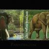 แสตมป์ชุด ความสัมพันธ์ทางการฑูต ไทย - แอฟริกาใต้ ช้างไทย - ช้างแอฟริกา ปี 2546 (ยังไม่ใช้)