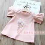เสื้อ สีชมพู แพ็ค 5 ชุด ไซส์ 100-110-120-130-140