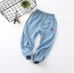 กางเกงขายาวสียีนส์แต่งน้องหมีที่ขา [size 2y-3y-4y-5y-6y]