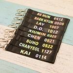 พวงกุญแจ #EXO แท็กมือถือที่ห้อยโทรศัพท์ (ระบุชื่อที่ช่องหมายเหุต)