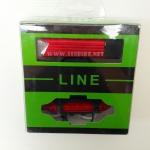 ไฟชุดหน้า-หลัง LINEอลูมิเนียม 180 lumen (USB Recharge),QC-001+PLUS-1