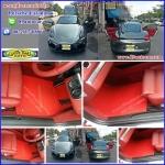 พรมไวนิลปูพื้นรถยนต์เข้ารูป Porsche Cayman สีแดงขอบแดง