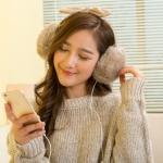[พร้อมส่ง] HE7974 ที่ปิดหูกันหนาวหูกระต่าย ต่อเป็นหูฟังได้