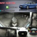 ผ้ายางเข้ารูปปูรถยนต์ราคาถูกส่งฟรี BMW 320 F30 ลายกระดุมสีดำ ขอบดำ ด้ายแดง