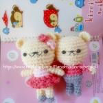 ตุ๊กตาถัก หมีคู่รัก