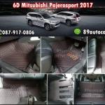 พรม 6D Mitsubishi Pajerosport 2017 สีดำแดง