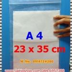 ถุงซิปล็อกขนาด 23*35 ซม. (หรือขนาดใส่เอกสาร A4) 1 กก. มี 70 ใบ