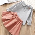เสื้อ+กระโปรง สีชมพู แพ็ค 5 ชุด ไซส์ 5-7-9-11-13