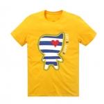 เสื้อลายการ์ตูน แบบ JYJ (สีเหลืองลายขวาง)