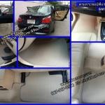 ยางปูพื้นรถยนต์เข้ารูป ราคาถูก BMW 318 E46 กระดุมสีครีมขอบครีม
