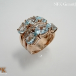 แหวนบลูโทปาซ (ฺBlue Topaz Silver Ring)