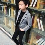 เสื้อสูทเด็กชายสีเทา (เฉพาะเสื้อสูทค่ะ) [size 2y-3y-4y-5y-6y]