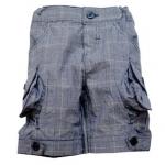 KGP185L Kidsplanet กางเกงขาสั้นเด็กหญิง ลายตาราง สีน้ำเงิน ดีไซน์กระเป๋าน่ารัก เหลือ Size 3Y/4Y