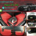 ขายพรมปูพื้นรถยนต์เข้ารูป Nissan GT R53 ไวนิลสีแดงขอบแดง