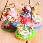 ชุดเซ็ต 5 ชิ้น ตุ๊กตาโมเดลเฮลโหลคิตตี้ Hello Kitty figure model set of Day life
