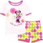 GNL020 baby Gap เสื้อผ้าเด็ก ชุดลำลอง เสื้้อแขนสั้น Minnie สกรีนลาย Cute as a bug กางเกงขาสั้นลายจุดและเต่าทองสีสันสดใส Size 100/110