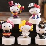 คอลเลกชั่นตุ๊กตาโมเดลเฮลโหลคิตตี้ครบรอบ 40 ปี SANRIO hello kitty Hello Kitty 40th Anniversary Limited Variety magic souvenir dolls boxed ornaments ~