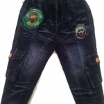 J610 กางเกงยีนส์เด็กชาย ขายปลีกในราคาส่ง ดีไซเท่ห์ทั้งด้านหน้า-หลัง เอวยางยืด Size 3-6 ขวบ
