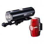 CATEYE ชุดไฟหน้า/ไฟท้าย VOLT200XC+RAPID MINI, HL-EL060RC+LD-635R