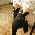 [พร้อมส่ง] P2299 ถุงน่อง ลายกระต่าย ญี่ปุ่น หูพับ งานน่ารักมากๆค่ะ Bunny 02