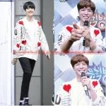 เสื้อคลมคาร์ดิแกน ลายหัวใจ แบบ Park Bo Gum + ฺBeakhyun