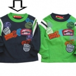 KPTL209L Kidsplanet เสื้อผ้าเด็กชาย เสื้อยืดแขนยาว สีกรมท่ากุ๊นเขียว ปักแปะลายรถแข่ง Grand Prix Drivers Club เหลือ Size 4Y