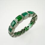 กำไลโมรา (Green Agate Silver Bracelet)