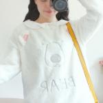 [พร้อมส่ง] LP4736 เสื้อกันหนาว แขนยาว แบบสวม ปักลายหน้าหมีขาว Polar Bear Sweater