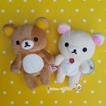 เซ็ตคู่ 2 ชิ้น San-X Rilakkuma with Korilakkuma Original Plushies ตุ๊กตาหมีรีแลคคุมะ โคริแลคคุมะ Size #S
