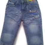 J11081 กางเกงยีนส์เด็กชาย ขายาว ดีไซส์ลายปักเท่ห์ ปรับเอวได้ Size 1-3 ขวบ