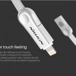 Nillkin Plus 3 Cable (Micro USB & ไอโฟน Lightning),สายชาร์จและซิงค์ข้อมูล Nillkin