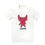 เสื้อลายการ์ตูน แบบ JYJ (สีขาวลายแมวแดง)