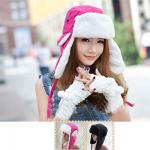 [พร้อมส่ง] H6347 หมวกนักบินกันหนาว แบบหมวกกันหนาวปิดหู มีขนฟูนุ่มด้านใน กันหนาวได้ดี แบบน่ารัก