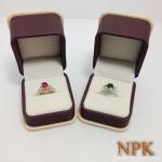 แหวนทับทิมและหยกพม่า (Ruby&Jade gold ring)