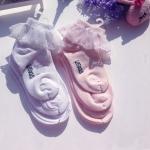 [ไซส์เด็ก] K8163 ถุงเท้าเด็ก ขอบระบายลูกไม้ สุดน่ารัก