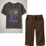 PJA062 เสื้อผ้าเด็ก ชุดลำลอง Superman in Training แนวสปอร์ต baby Gap Made in Malasia งานส่งออก USA เหลือ Size 80/90