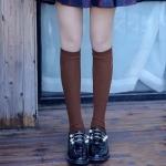 [พร้อมส่ง] S7579 ถุงเท้ายาวครึ่งเข่า ปักลายสัญลักษณ์ สไตล์นักเรียนญี่ปุ่น Students College Sock
