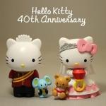 ตุ๊กตาโมเดลคิตตี้ Princess Royal Wedding of Hello kitty & Dare Deniel (40 Anniversary ) 7-11 Hong Kong