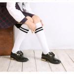 [พร้อมส่ง] HS5995 ถุงเท้านักเรียนญี่ปุ่น แบบครึ่งขา แบบลายคาด 2 แถบ Japan High School Sock