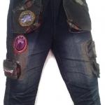 J8861 กางเกงยีนส์เด็กชาย ดีไซเท่ห์ทั้งด้านหน้า-หลัง เอวยางยืด Size 4-6 ขวบ